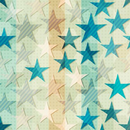 abstract blue star seamless
