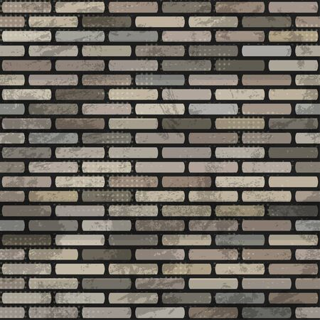abstract brick wall seamless Stock Vector - 16665198
