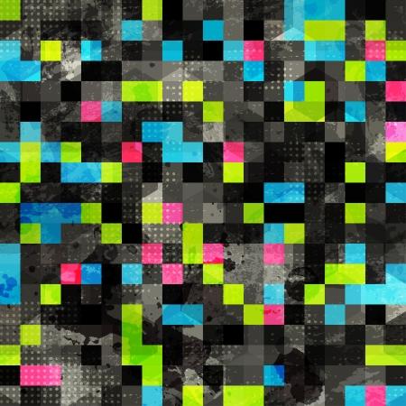 pop star: abstract grunge pixel seamless
