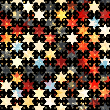 abstract grunge star seamless Vector