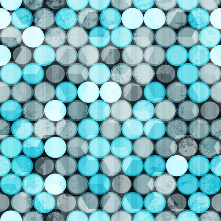 blue circles grunge seamless Vector