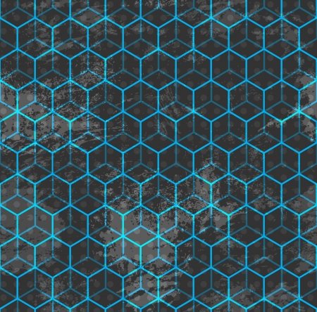 blue cube seamless Stock Vector - 16665170