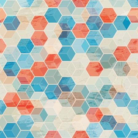 descriptive color: blue cubes seamless