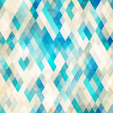 blue romb grunge seamless Vector