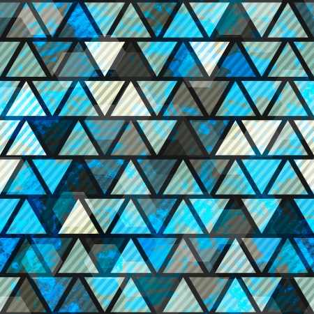 blue triangle grunge seamless pattern Stock Vector - 16665238