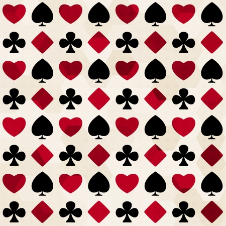 kartenspiel: Kartenfarbe seamless pattern Illustration