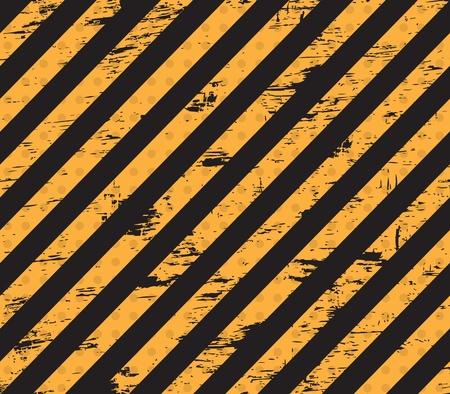 dangerous construction: Caution grunge line