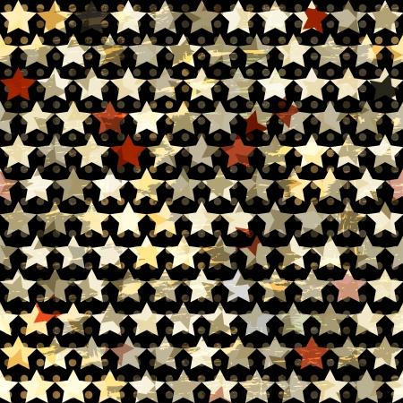 gold star seamless Stock Vector - 16665082