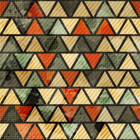 grunge triangle seamless pattern Stock Vector - 16665274