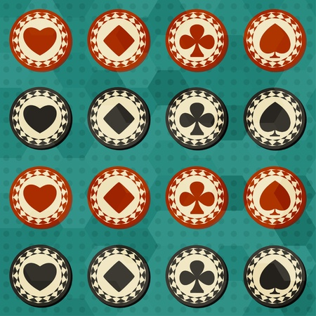 poker card suit seamless Vector