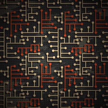 mother board: technology grunge pattern Illustration