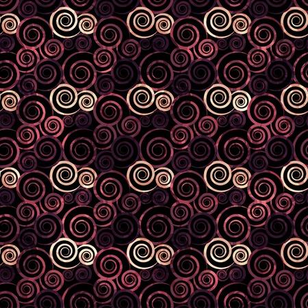 vintage red spiral seamless Vector