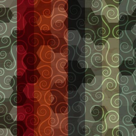 descriptive color: vintage sipral pattern Illustration