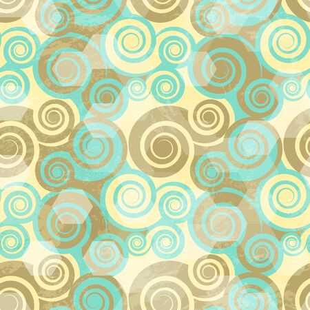 circle pattern: vintage spiral grunge seamless Illustration
