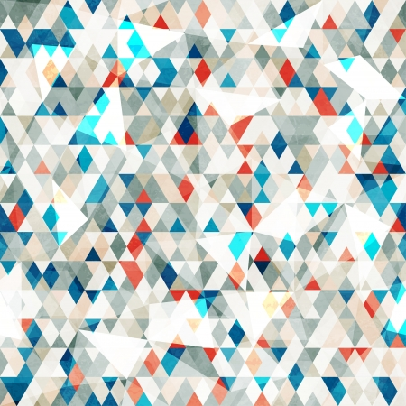 abstract blue glass triangles seamless with grunge effect Ilustração