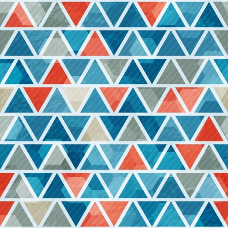 abstract blue triangle seamless pattern Vector
