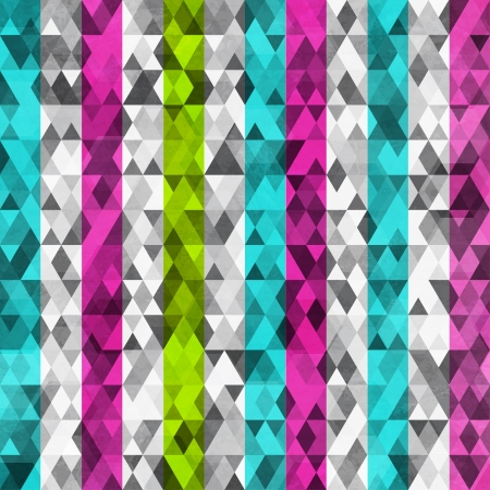 abstract color triangles seamless with grunge effect Vector