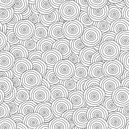 abstract monochrome circles seamless pattern Stock Vector - 17621510
