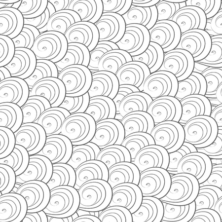 abstract monochrome curves seamless pattern Stock Vector - 17621504