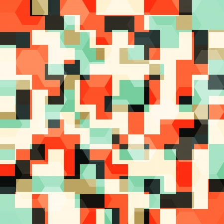 camouflage pattern: abstract orange squares seamless pattern