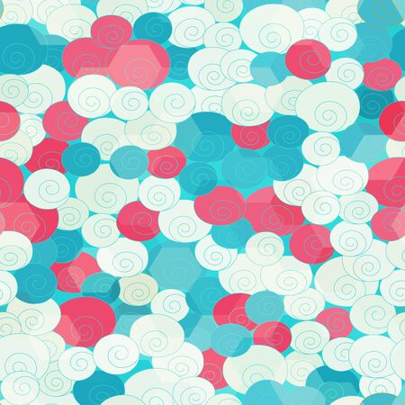 abstract roses seamless Vector