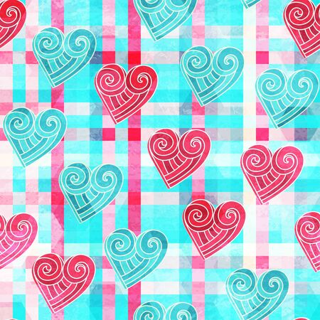 abstract valentine seamless pattern with grunge effect Vector