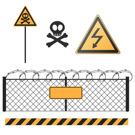 abstract warning signs set Stock Vector - 17621406