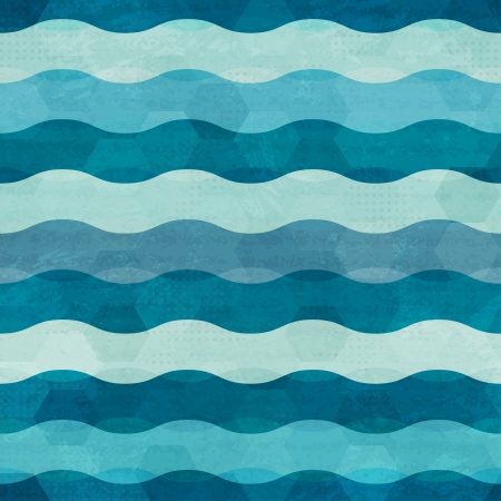 abstract waves seamless Vector