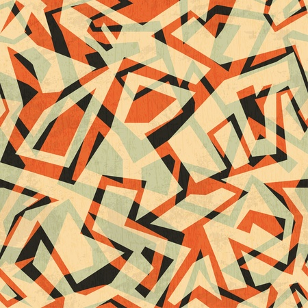 pueblo: ancient seamless pattern with grunge effect