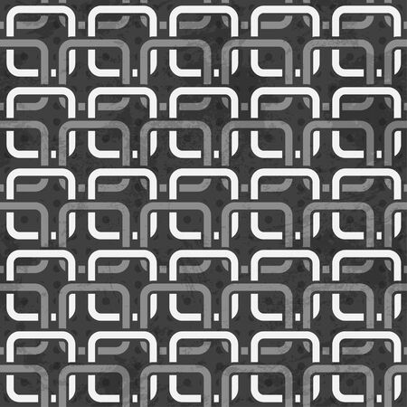 black and white chains seamless pattern Vector