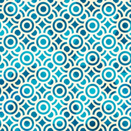 blue circle seamless pattern with grunge effect Stock Vector - 17621552