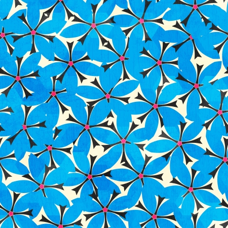 blue floral seamless pattern Stock Vector - 17621505