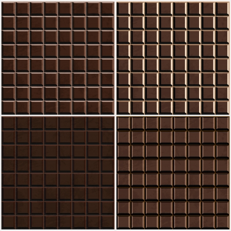 chocolate seamless background set Vector
