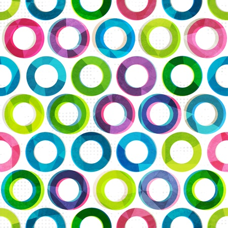 colored circles seamless pattern Vector