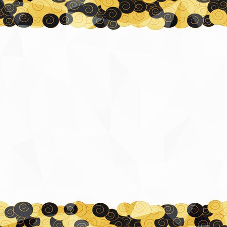 gold seamless border pattern Vector