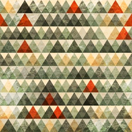 grunge triangle seamless pattern Stock Vector - 17621592