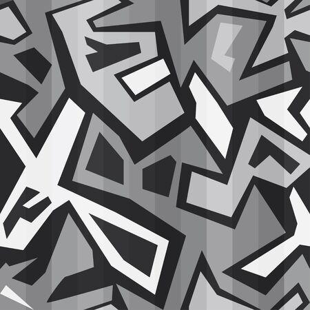monochrome graffiti seamless Vector