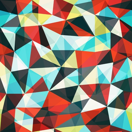 retro mosaic triangle seamless pattern Illustration
