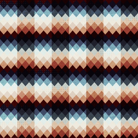 herringbone background: retro zigzags seamless with grunge effect
