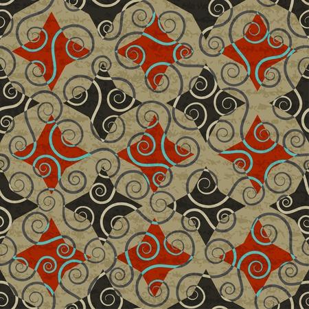 revivalism: vintage floral seamless pattern