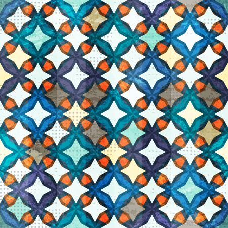 mosaic floor: vintage mosaic seamless pattern Illustration