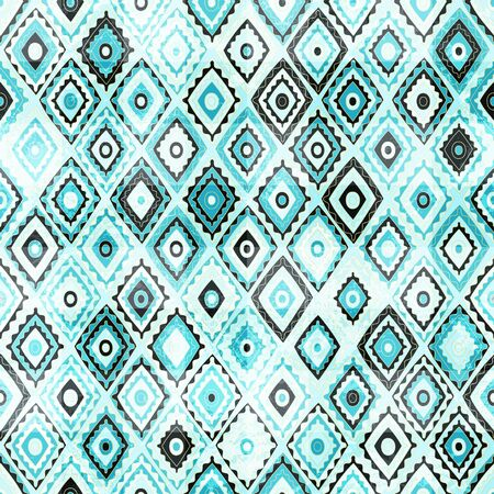 embroider: vintage mosaic seamless with grunge effect Illustration