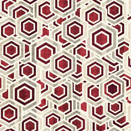 vintage rhombus white and red color seamless Stock Vector - 17621547