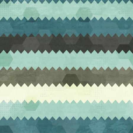 빈티지 지그재그 원활한 패턴