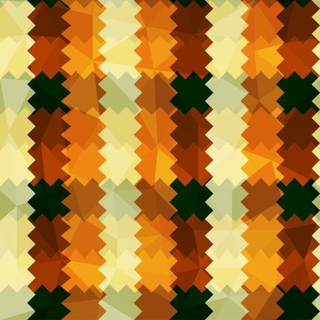 zigzag: zigzag lines orange seamless pattern Illustration