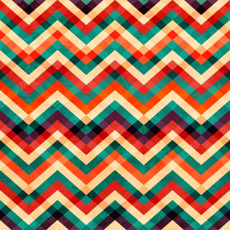 zigzag seamless pattern with grunge effect Vector