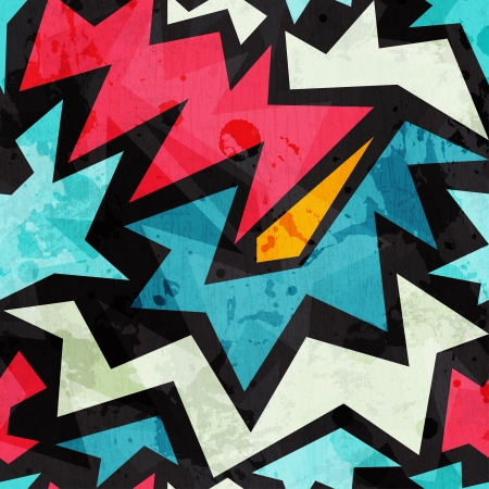 abstrakte Graffiti nahtlose Textur mit Grunge-Effekt Vektorgrafik
