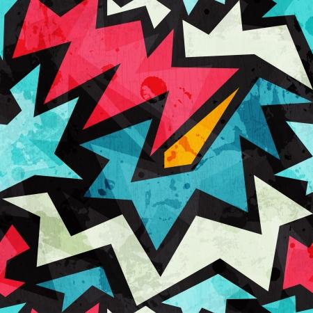 graffiti alphabet: abstrakte Graffiti nahtlose Textur mit Grunge-Effekt Illustration