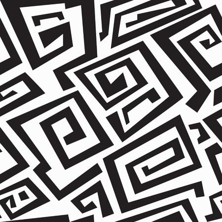 tribal design: ancient monochrome seamless texture Illustration