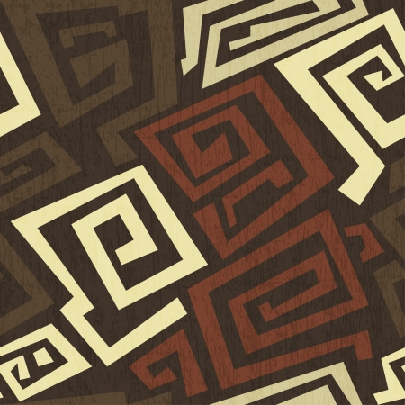 indigenous: ancient seamless texture with grunge effect Illustration